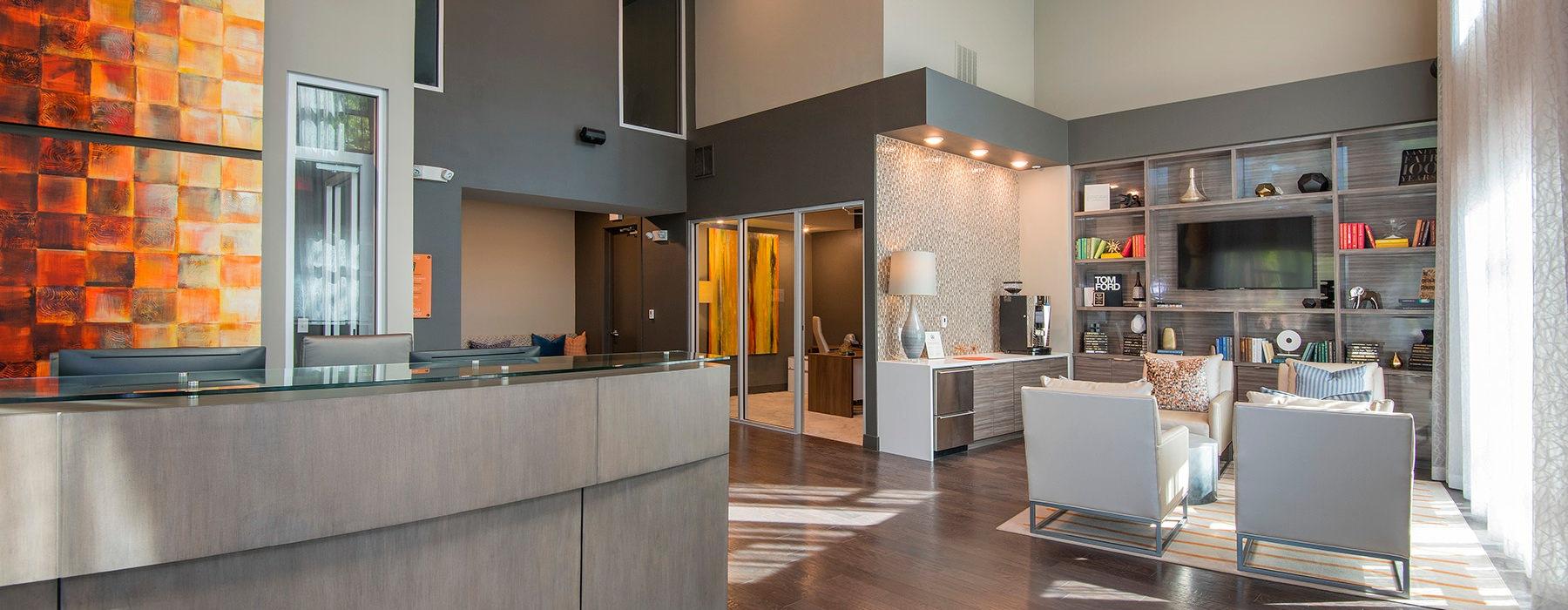 spacious, bright lobby interior